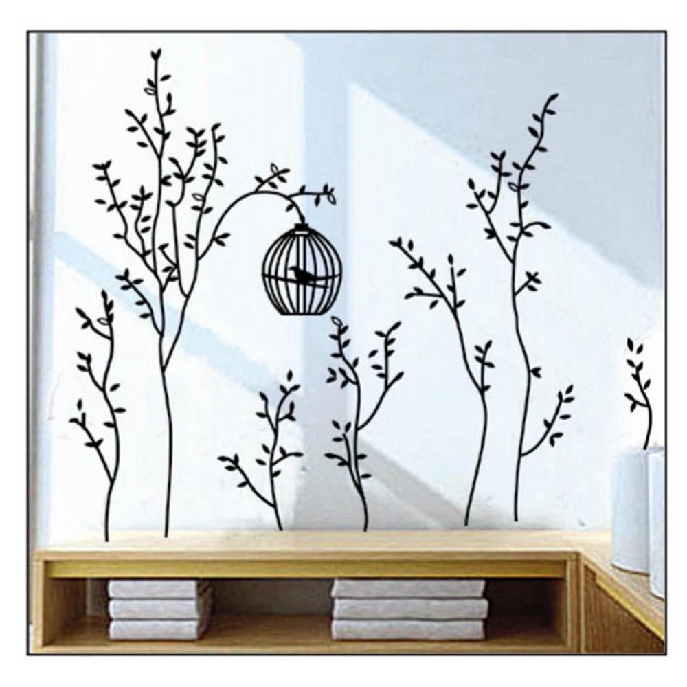 Adesivi da parete sticker murale muro carta decorazione fiore albero ornamento ebay - Adesivi da muro ikea ...