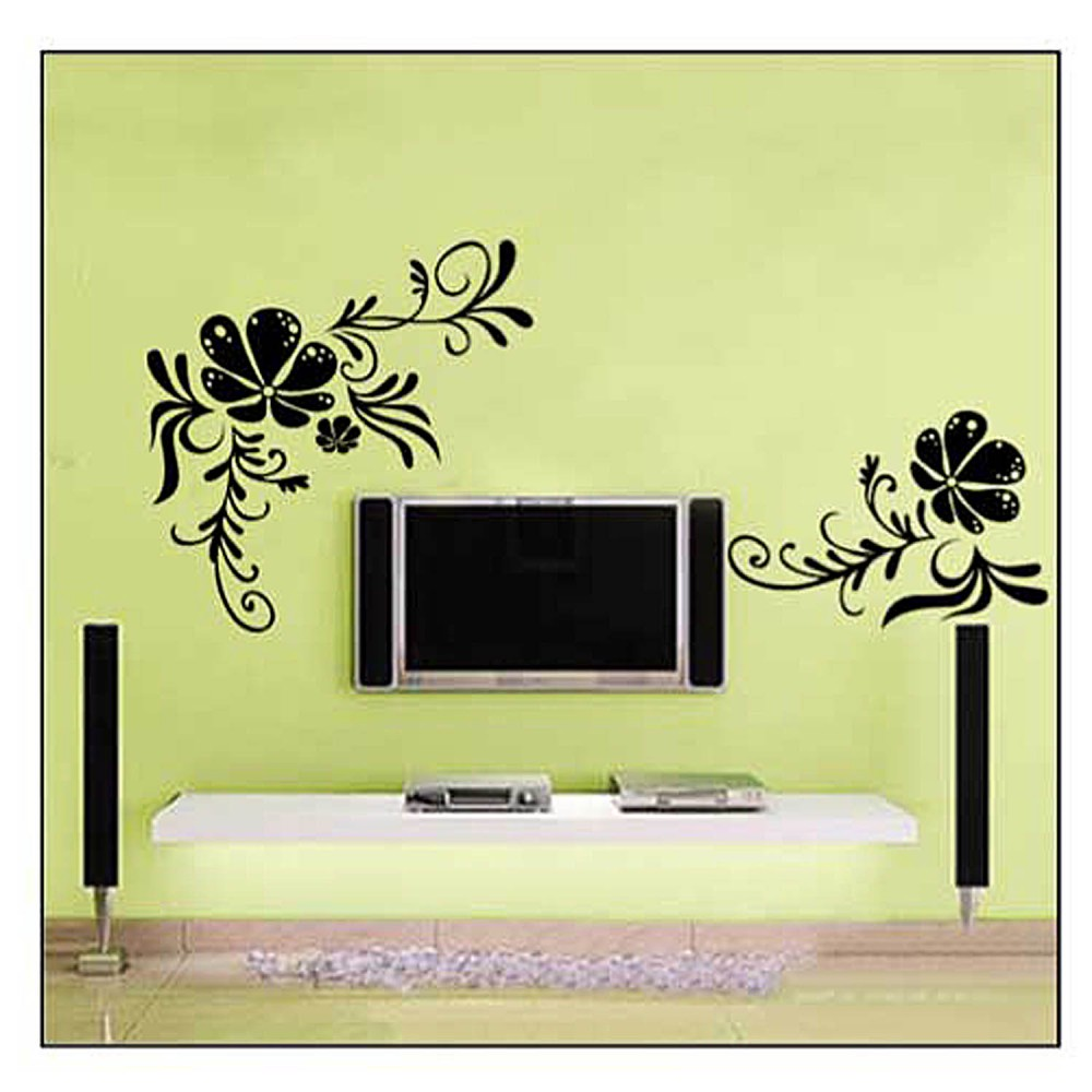 Adhesivos decorativos pegatinas de pared tattoo casa flor for Adhesivos decorativos pared
