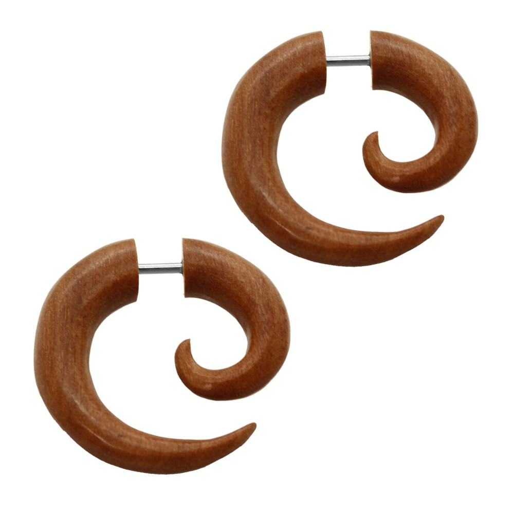 2faux spirales fakeplugs piercing boucle d oreille. Black Bedroom Furniture Sets. Home Design Ideas