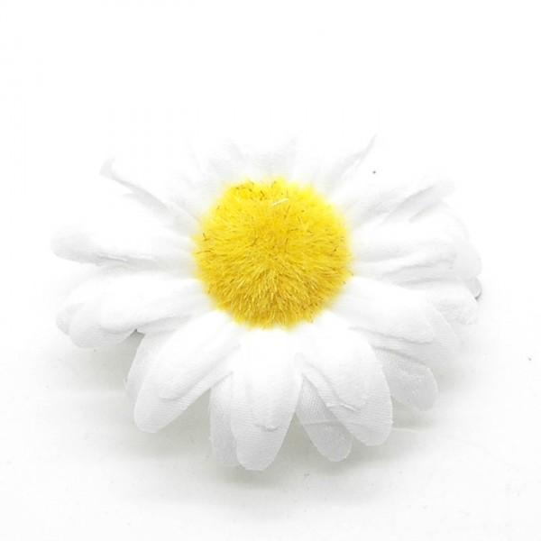 1 Haarspange Haarblüte Haarschmuck Haarklammer Blüte Blume Stoff ...