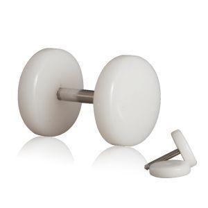 2-Fakeplugs-Fake-Plug-Tunnel-Piercing-Ohrstecker-Ohrring-6-8-10-12-Weiss-Schwarz