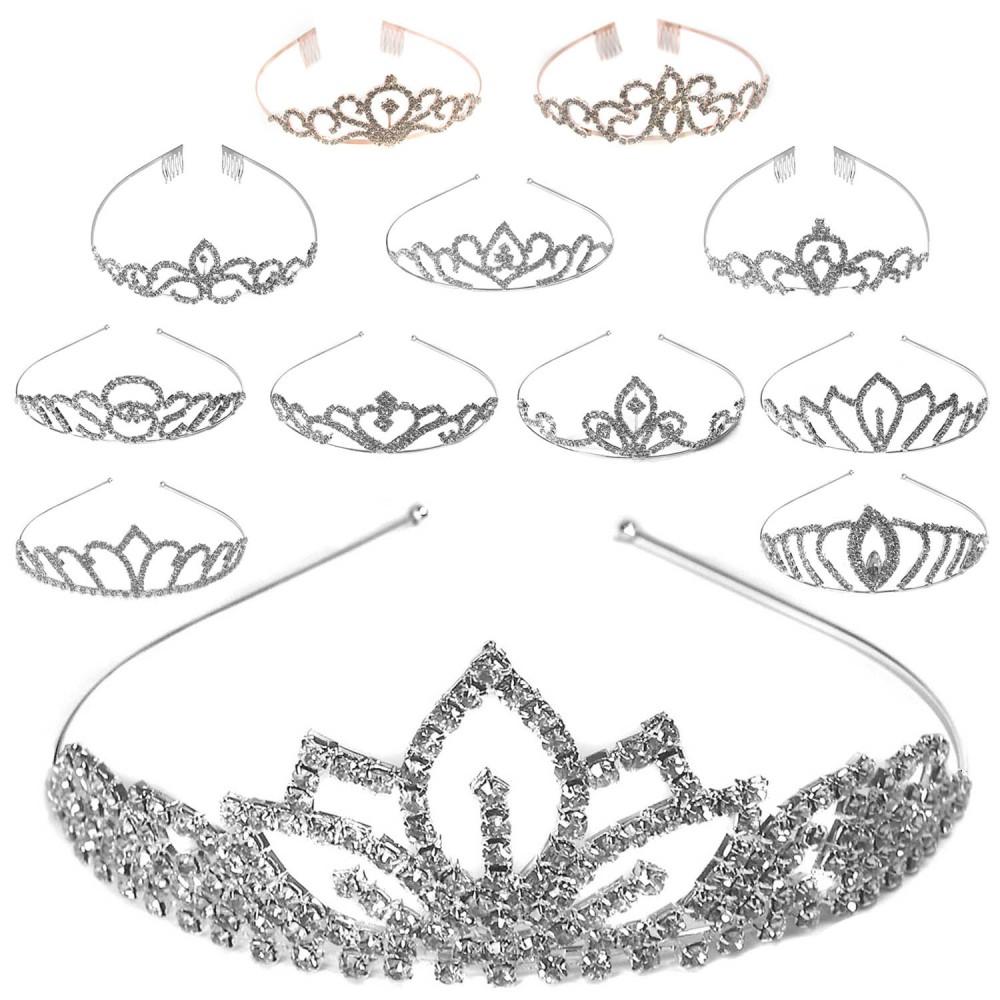 diadem tiara hochzeit krone damen braut haarreifen. Black Bedroom Furniture Sets. Home Design Ideas