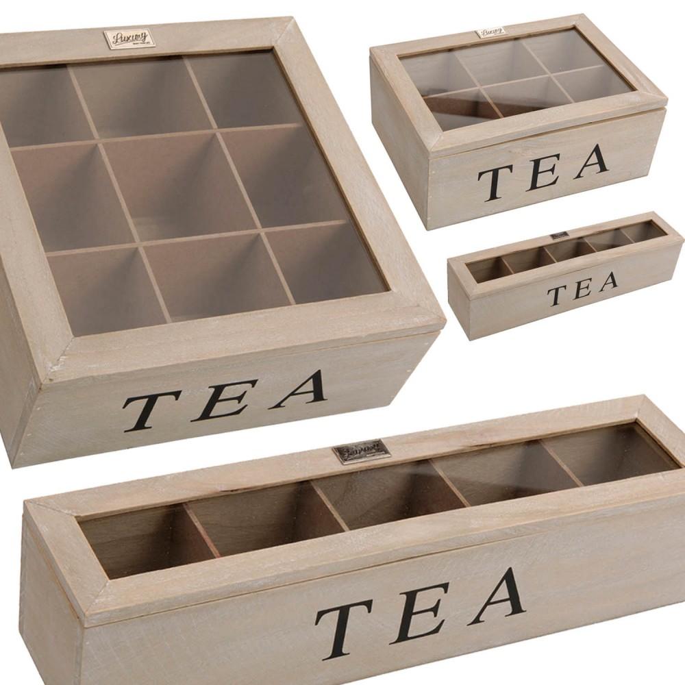 teekiste teebeutel teebeutelkiste teebox braun tee aufbewahrung holz holzbox ebay. Black Bedroom Furniture Sets. Home Design Ideas