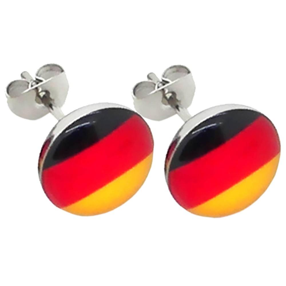 fu ball fan artikel deutschland wm em ohrringe ohrstecker fake plug creolen. Black Bedroom Furniture Sets. Home Design Ideas