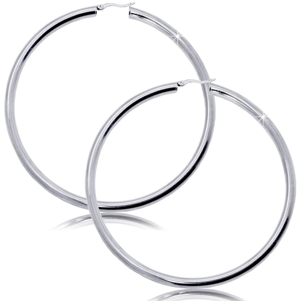 Cr ole boucle d oreille acier inoxydable femme ronde for Fenetre ronde oreille