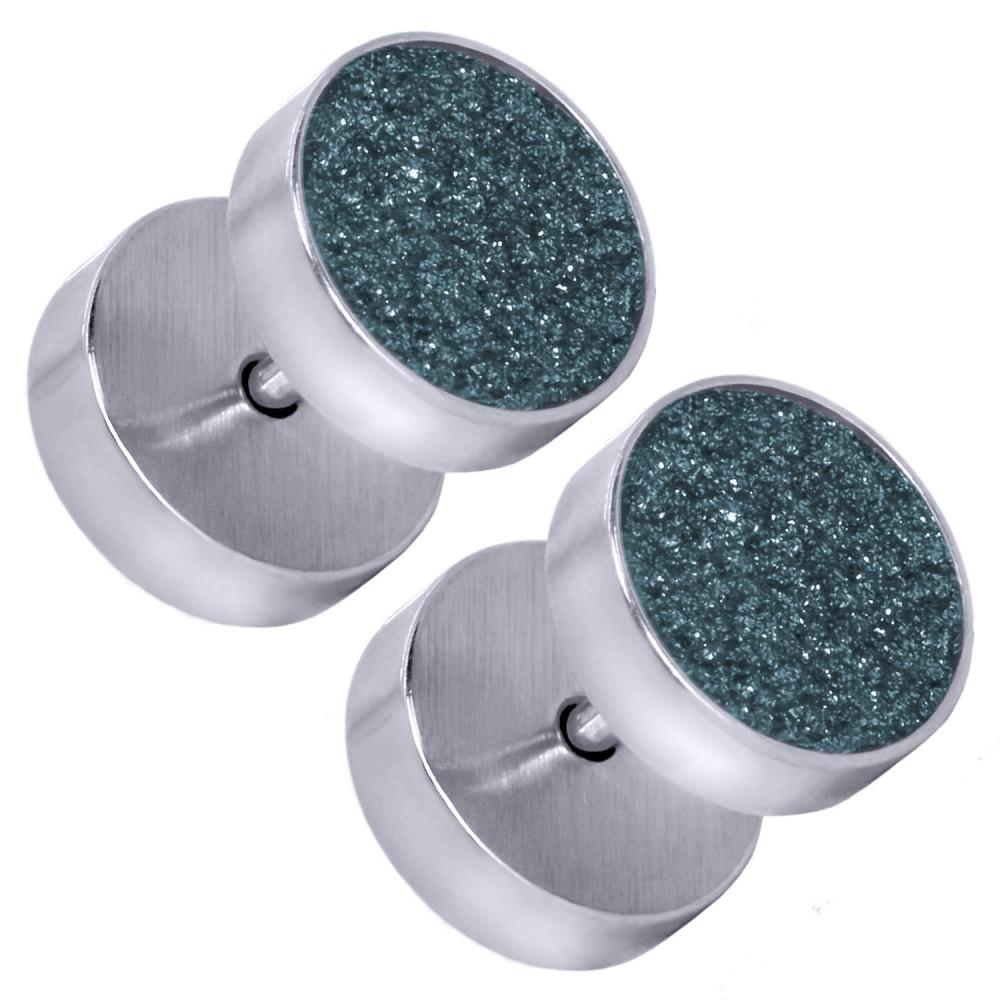 fakeplug piercing tunnel ohrringe plug glitzer glanz damen. Black Bedroom Furniture Sets. Home Design Ideas