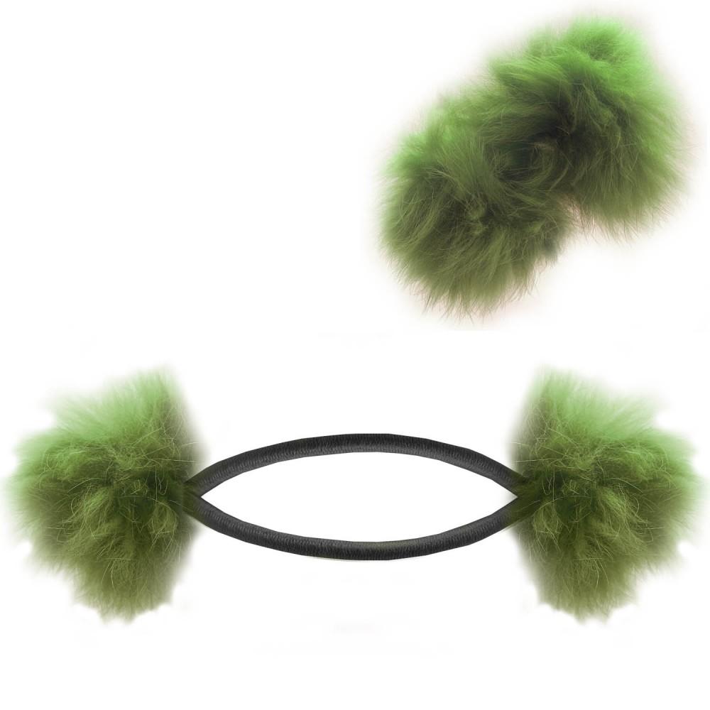 haargummi zopf halter flauschig puschel ball haarband. Black Bedroom Furniture Sets. Home Design Ideas