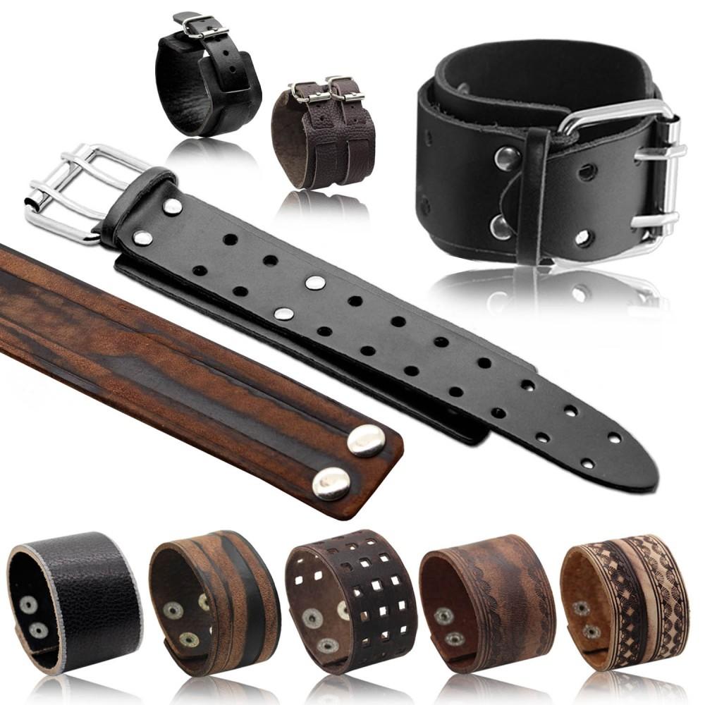 herren lederarmband surferarmband breit armband leder schwarz braun herrenschmuck accessoires. Black Bedroom Furniture Sets. Home Design Ideas